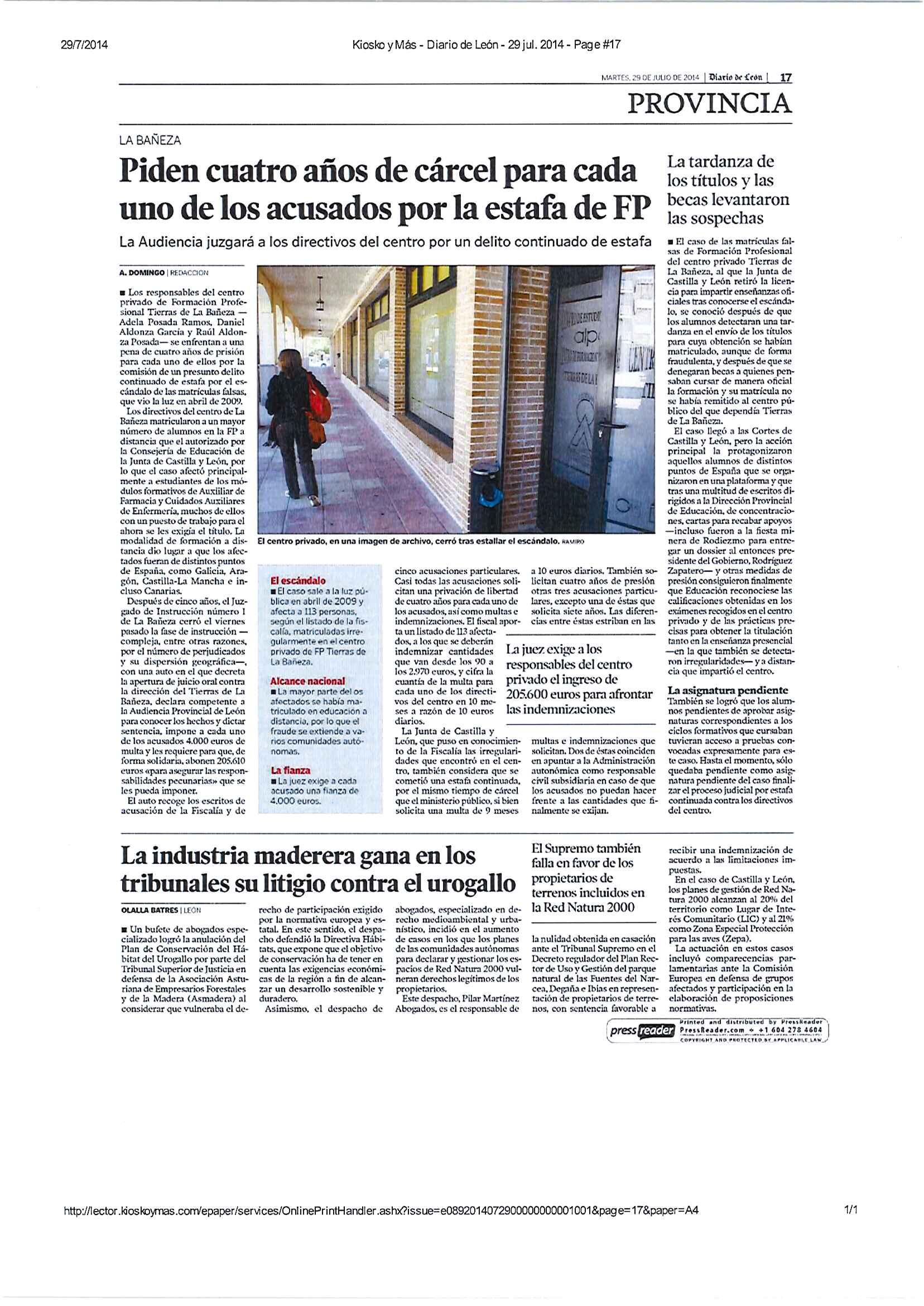 Diario de León 290714